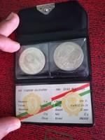 1981-es 100 Forint és 5 Leva 1300 éves Bulgária PP