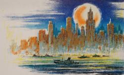 W. Zandat: New York - original grafik