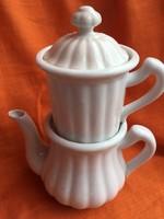 Zsolnay  kávés/teás kőporcelán kiöntő circa az 1920-as évekből-