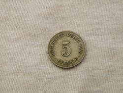 KK369 1876G 5 pfennig Németország
