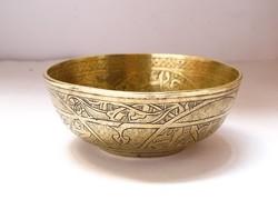 Régi perzsa/iszlám bronz tál.