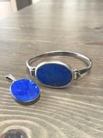 Régi Dán N.E. FROM Design karkötő és medál lápisz lazulival