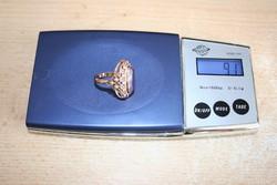 Antik ametiszt arany gyűrű 14k