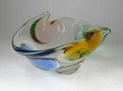 0W959 Fújtüveg művészi üveg kínáló tál 22 cm
