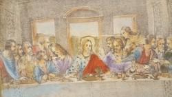 """Leonardo da Vinci """"Utolsó vacsora"""" c. festmény másolata"""