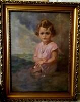 Hollósi Endre - Kislány portré