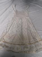 Ruha - MONSOON -  kislány - pamut - arany mintával nyomott - váll 26 cm - hossz 76 cm - újszerű