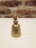 Sárgaréz  antik csengő GYÖNYÖRŰ