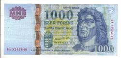 """1000 forint 2005 """"DA"""""""