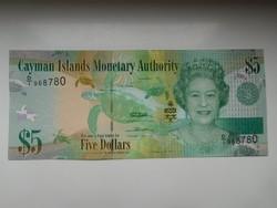 Kajmán-szigetek 5 dollár 2011  UNC további bankjegyek a kínálatomba a galérián