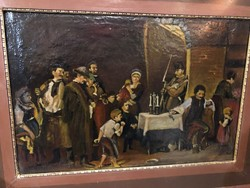 Munkácsy Mihály után régi másolat olaj festmény