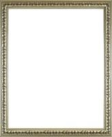 0W914 Ezüstözött historizáló képkeret 40 x 50 cm