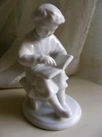A gyermek Lenin könyvet olvas - Lomonosov porcelán figura