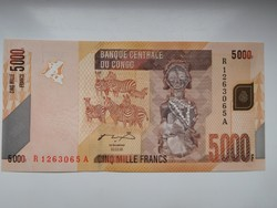 Kongói Dem Közt  5000 francs 2013 UNC