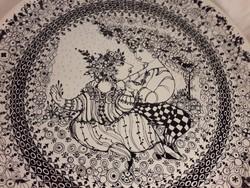 Rosenthal Björn Wiinblad design porcelán fali tányér tál - Tavasz - 35 cm !!! dobozában