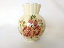 Zsolnay Kézzel festett Gömb váza. Hibátlan!