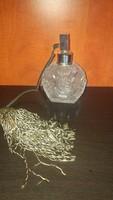 Bohemia kristály parfümös üveg, cseh ólomkristály, csehszlovák kristály