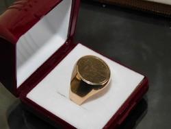 Arany 14k  pecsét gyürű   7.9 gr