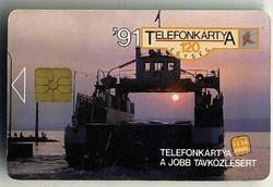Első kiadású telefonkártya 1991-ből
