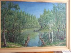 Bogács Dezső gyönyörű festmény, tájkép
