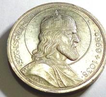 1938 ezüst Szent István 5 pengős
