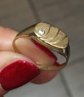 14 karátos 1 köves női arany pecsétgyűrű