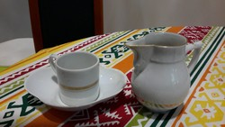 Herendi kávés csésze+kiöntő