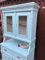 Felújított menta színnel Tálaló szekrény ,kredenc eladó