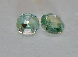 Szép valódi 0.4ct VS1 moissanite /moissanit  gyémánt pár akvamarinkék