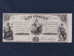 "Extra szép Kossuth Lajos emigrációs 2 Forint 1852 ""Sor C"" Philadelphia/id 8919/"