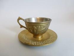 Antik sárgaréz kávéscsésze