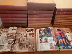 KÉPES SPORT MAGAZIN gyűjtemény 22 kötetben 1963 -1977. Kuriózum!