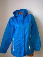 Crane márkás azúr kék női vízlepergetős női kabát kapucnis dzseki S-M 36-40