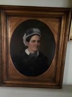 Bider portré  Nemes hölgy 1872 olaj fa  jelzett