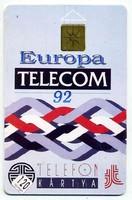 Európa Telecom telefonkártya 1992-ből