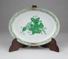 0X026 Zöld Apponyi mintás Herendi porcelán hamutál