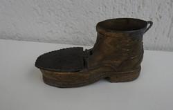 Antik cipő alakú cigaretta tartó és hamutartó - hamuzó