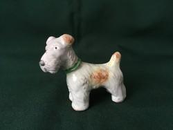 Kerámia foxi kutya figura