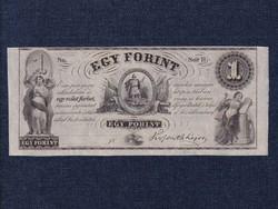 """Kossuth Lajos emigrációs 1 Forint 1852 """"Sor H"""" tökéletes UNC/id 8918/"""