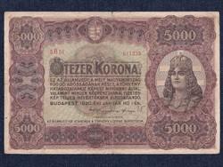 Magyar 5000 korona 1920 (nagyméretű)/id 8644/