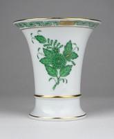0X025 Zöld Apponyi mintás Herendi porcelán váza