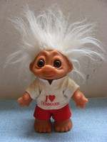 Retro DAM Troll játék figura Made in Denmark