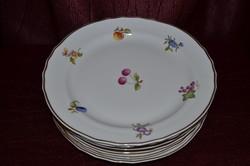 6 db csoda szép Hollóházi lapos tányér