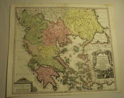 """Matthaus Seutter - Graecia Nova / 1730-40 / """" RRR """""""