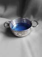 Antik ezüst kèk üveggel