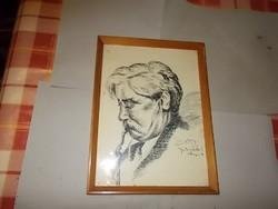 Móricz Zsigmond Portré.(Ceruza rajz)