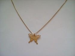 Aranyozott ezüst nyaklánc+ medál