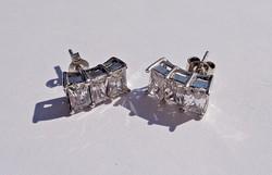 3 köves ezüst fülbevaló