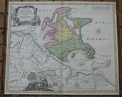 Insulae et Principatus Rugiae - Pomerania - 1716, Eredeti, rézmetszet!