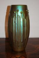 Zsolnay Art-Deco váza eozin mázas, 1930 - 40-es évekből. Hibátlan, jelzett! Magassága 34 cm